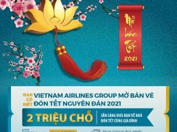 Cập nhật nhanh nhất vé máy bay Tết 2021 của 4 hãng hàng không